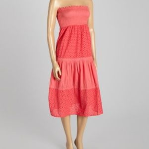 NWT Coral strapless dress